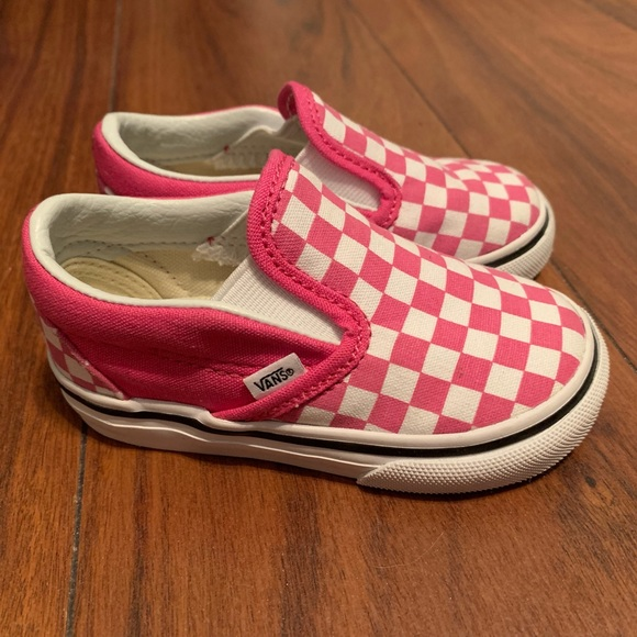 5337d29145 Toddler Vans checkerboard slip ons